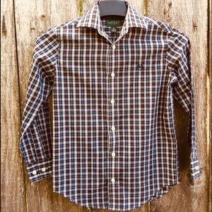 Lauren Ralph Lauren Plaid Long Sleeve Shirt Boys 8